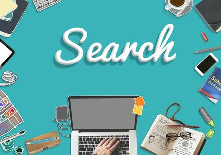 Search Searching Seeking Connection Discover Concept