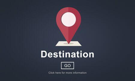 destination: Destination Location Holiday Navigation Place Concept