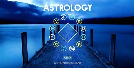 telling: Astrology Astronomy Horoscope Fortune Telling Zodiac Concept