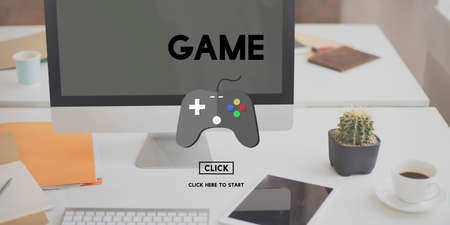 hobby: Game Gaming Fun Hobby Leisure Technology Concept Stock Photo