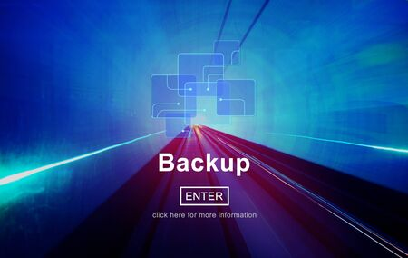 restore: Backup Data Storage Restore Database Concept