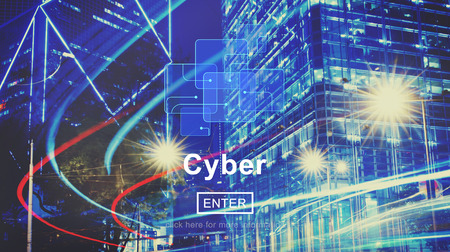 Cyber Digital Technology Electronic Networking Concept
