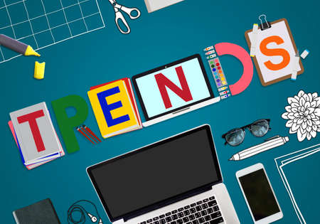 trends: Trends Design Modern Trendy Fashion Concept