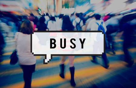 hectic life: Busy Rush Overload Multitask Hardworking Concept