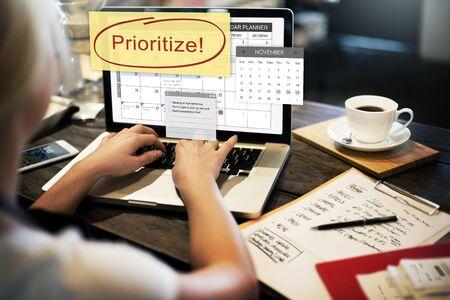 Pritize Effectivity Bedeutung Aufgaben Dringlichkeit Konzept