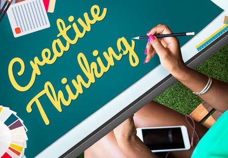 creative thinking: Creative Thinking Creativity Innovation Ideas Concept