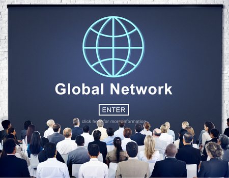 diversity domain: Global Network Connection Social Network Technology Internet Concept Stock Photo