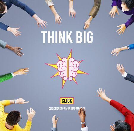 actitud: Piense pensamiento grande Positivo Actitud de la inspiraci�n Foto de archivo