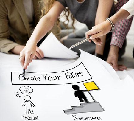 goal oriented: Create Your Future Aspiration Goals Concept