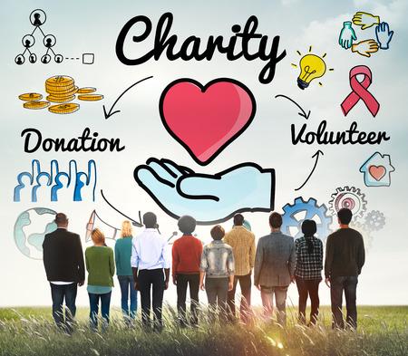 generosity: Caridad Donar Bienestar generosidad concepto de donaciones caritativas