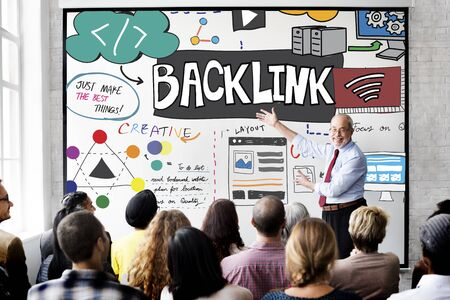 backlinks: Backlink Hyperlink Internet Connection Online Network Concept
