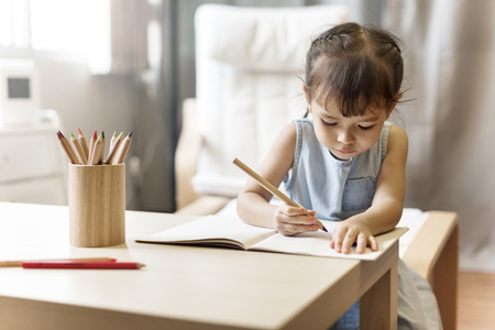 Offspring Toddler Adolescene Cheerful Girl Happy Concept