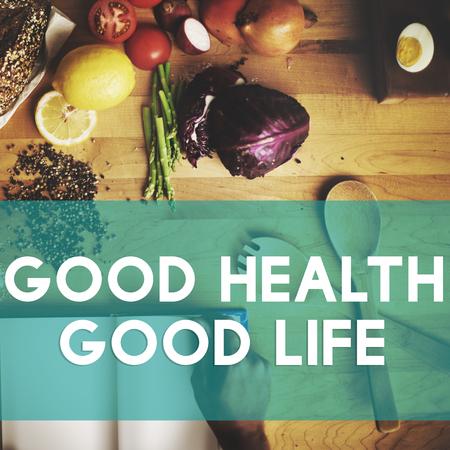 Good Health Good Life Lifestyle Nutrition Exercise Concept Фото со стока