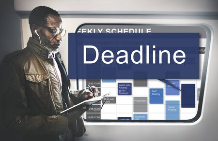 final thoughts: Deadline Appointment Final Time The End Countdown Urgency Concept Stock Photo