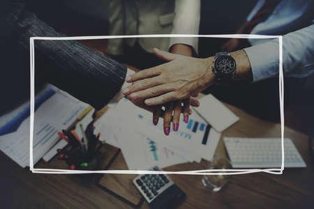 office team: Business Partnership Handshake Team United Concept Stock Photo
