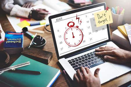 urgent: Time Stopwatch Urgent Planning Planner Concept