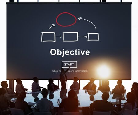 Objective Plan Process Tactics Vision Concept Фото со стока