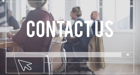 enquire: Contact Us Get Touch Reach Out Concept Stock Photo
