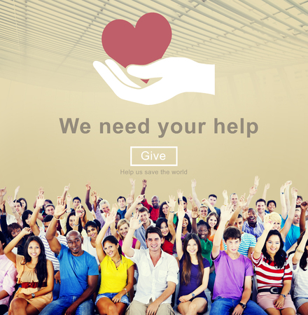 need: We Need Your Help Welfare Donation Concept Stock Photo