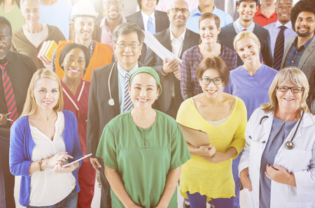 professional occupation: Large Group of Diverse People with Different Occupations
