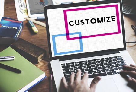 modificar: Modificar en Personalizar Ideas de Ajuste creatividad Concepto de personalización