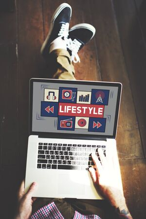habits: Lifestyle Way of Life Habits Situation Culture Concept