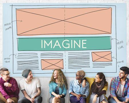 visualise: Imagine Imagination Creative Dream Thinking Concept