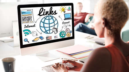 backlinks: Links Global Communication Connection Hyperlink Concept