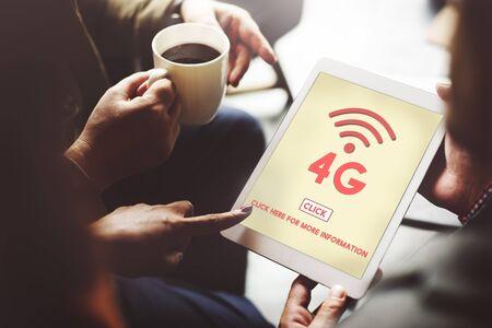4g: 4G Digital Internet Network Technology Wifi Concept