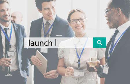kick off: Launch Kick Off Startup Begin Start Concept