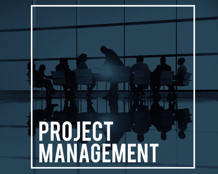 Project Management Manager planningsprocessen Concept Stockfoto