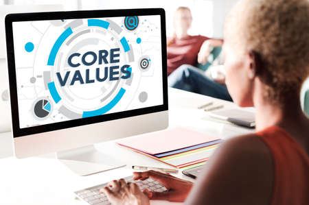 ideology: Core Values Principles Ideology Moral Purpose Concept Stock Photo
