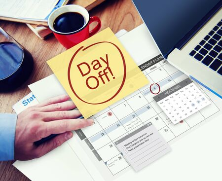day off: Day Off Holiday Vacation Relaxation Getaway Concept Stock Photo