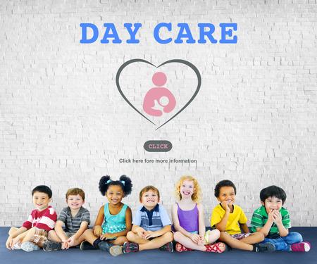 Day Care Center Child Education Kindergarten Concept Standard-Bild