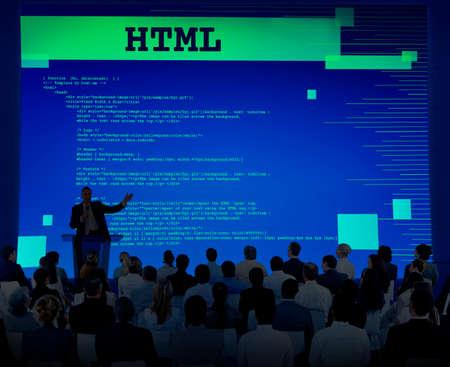 diversity domain: Html Programming Advanced Technology Web Concept Stock Photo