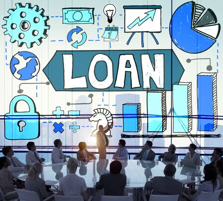 loaning: Loan Debt Money Accounting Banking Concept