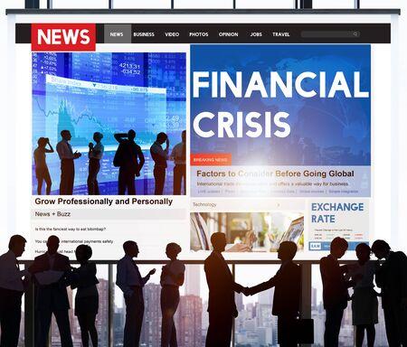 financial crisis: Financial Crisis Depression Recession Downtown Concept Stock Photo