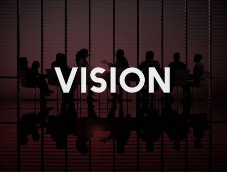 ambition: Vision Ambition Goals Aim Perspective Concept