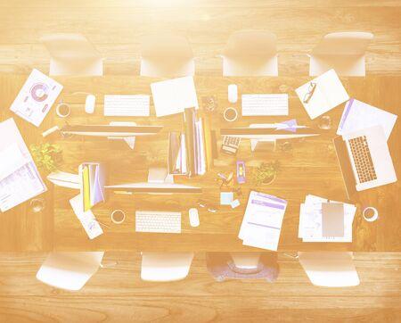 oficina desordenada: Oficina sucia con los Nadie