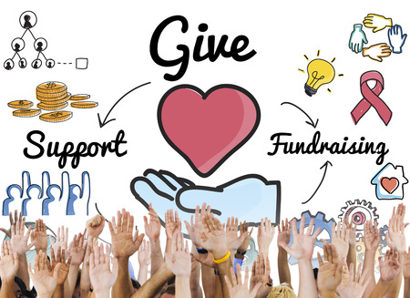 Give Support Fundraising Help Charity Concept