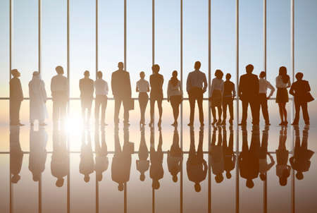 analysed: Back lit Business People Working Corporate Concept Stock Photo