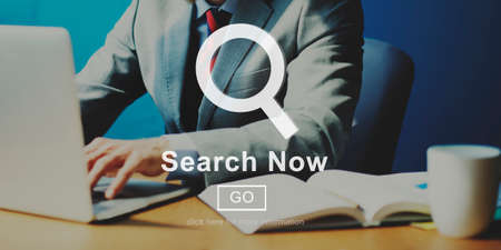 looking for work: Search Now Searching Magnifying Seeking Concept