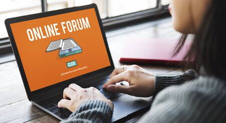 message board: Online Forum Discussion Assembly Information Concept