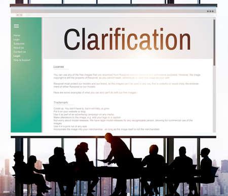 clarification: Clarification Determination Explanation Question Concept Stock Photo