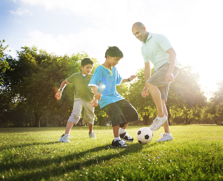 Soccer Fun Sports Family Playing Concept
