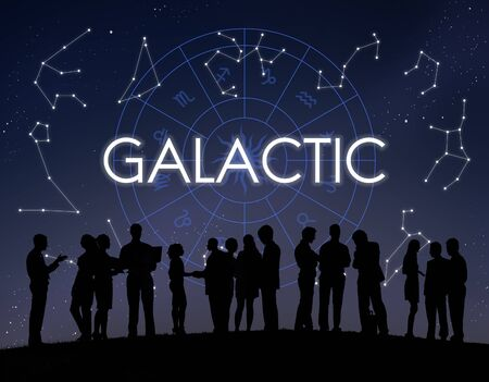 astronomie: Galactic Atmosphäre Cosmos Energie Exploration Konzept