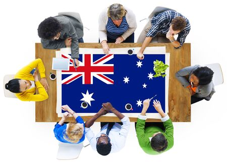 australian ethnicity: Australia Flag Country Nationality Liberty Concept Stock Photo