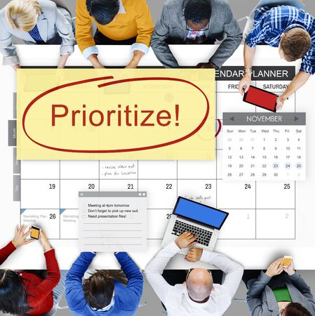 importance: Prioritize Effectivity Importance Tasks Urgency Concept Stock Photo
