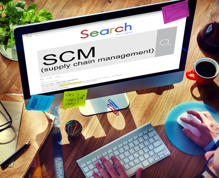 scm: SCM Supply Chain Management Manufacture Procurement Concept