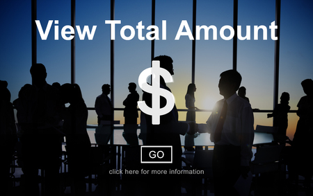 total: View Total Amount Accounting Payment Tax Concept Stock Photo